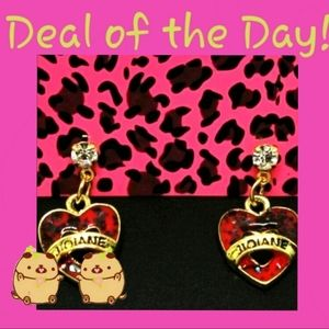 Enamel HEART Betsey Johnson Earrings